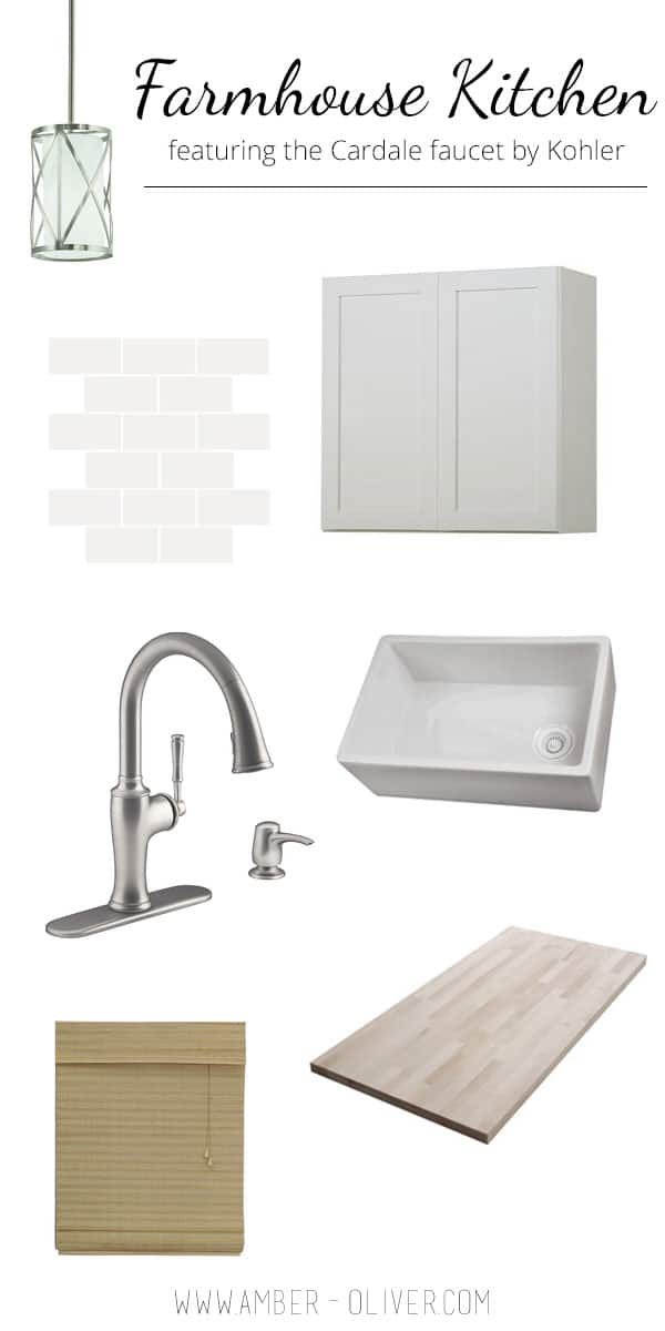 Farmhouse Style Kitchen Ideas featuring the Cardale faucet by Kohler