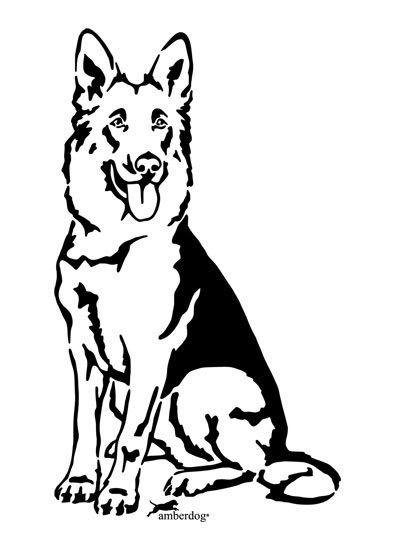 Deutscher Schferhund Wandtattoo