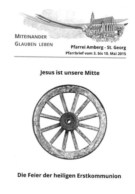 Pfarrbrief Nr. 14 vom 03.05.2015