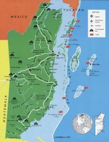 Mayan Ruins Belize Map