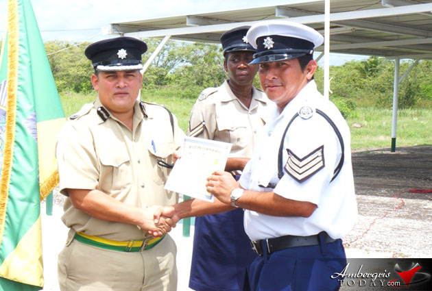 Belize Police Graduate From Squad Drill Course  Ambergris