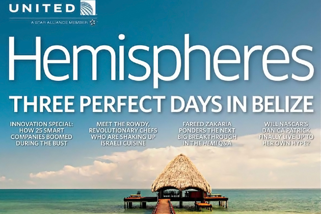 United Airlines Magazine Features Belize  Ambergris Today