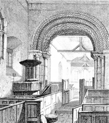 St Michael's Church interior, 1820 engraving