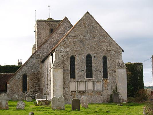 Amberley Church from the east