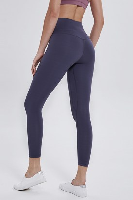 Azuni Women's High Waisted 4 Way Stretch Yoga Leggings Lilac Gray