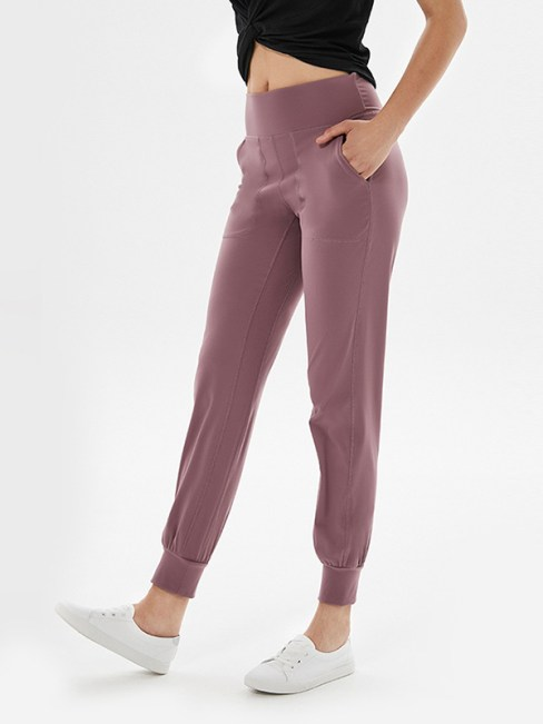 Corey Women's High Waisted Jogger Pants with Pockets Lilac Gray