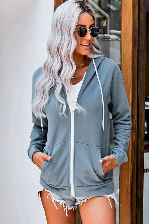 Elsa Women Zip-up Hoodie Jacket Black