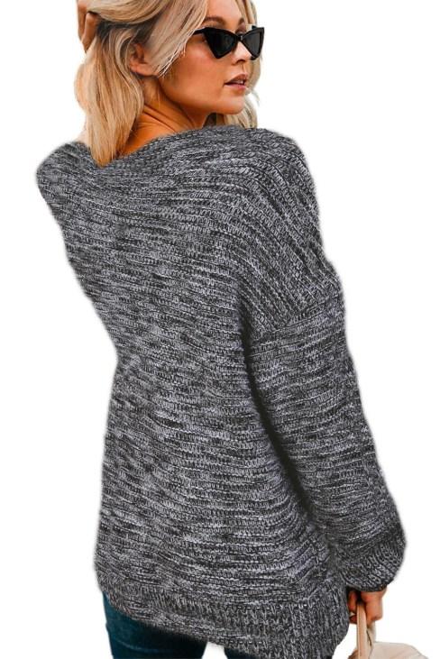 Darya Women's Chunky Wide Long Sleeve Knit Cardigan White