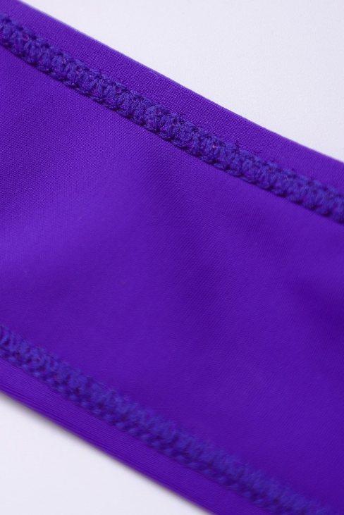 Carolina Women Halter Cross Wrap Floral Print One-piece Swimwear Blue