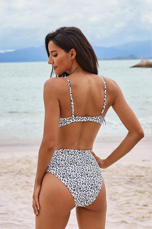 Marianne Women's Leopard Print High Waist Bikini Set