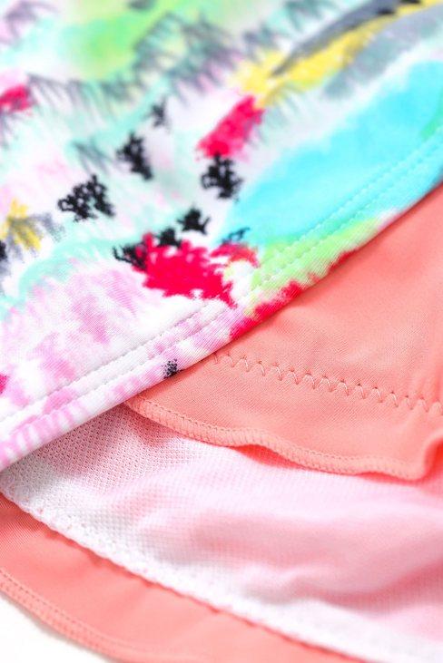 Nina Women Multicolor Bohemian Tropical Print Bikini
