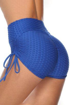 Angel Women Butt Lifting High Waist Swim Short Blue