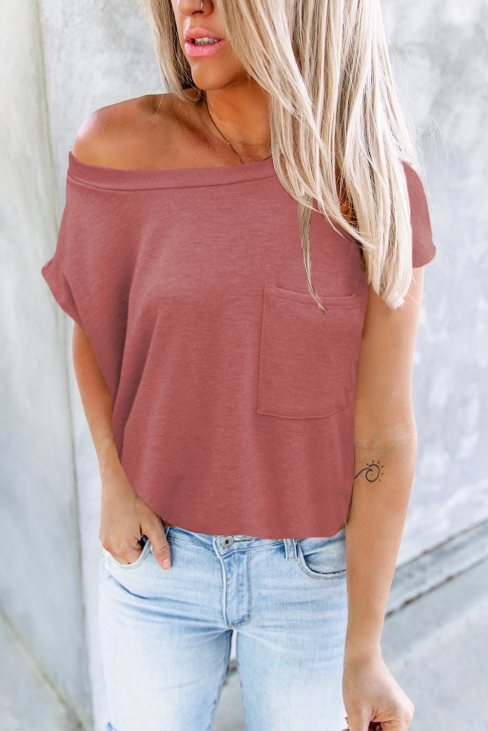 Valerie Women Pocketed Tee with Side Slits