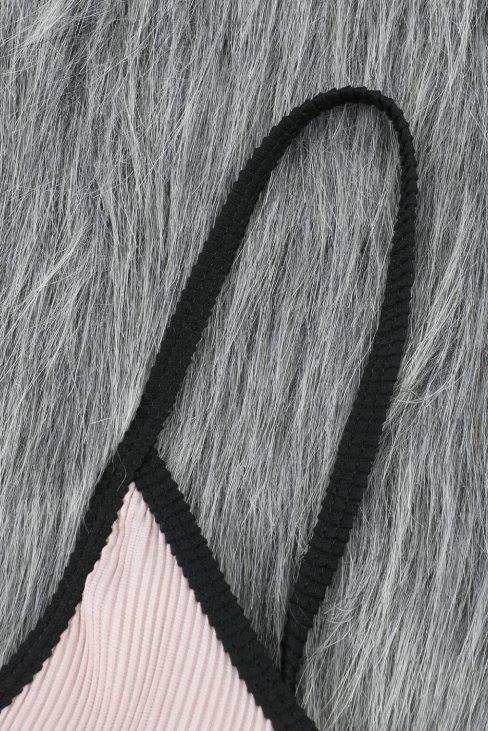 Carly Women Spaghetti Straps Colorblock Ribbed Apricot High Waist Bikini