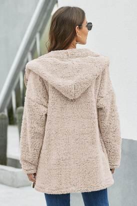 Noya Womens Brown Leave Them Waiting Wubby Coat