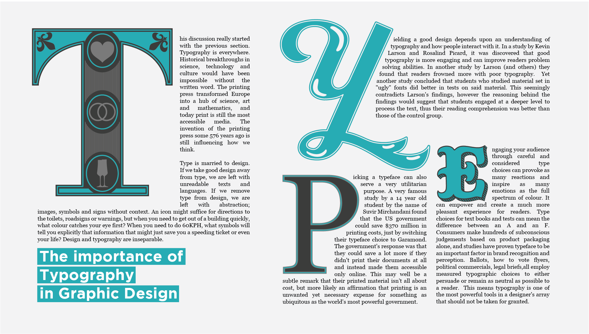 Importance of Type in Graphic Design