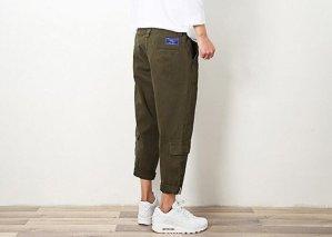 軍綠工裝褲2