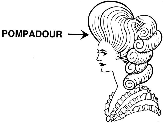 早期女性的龐畢度髮型