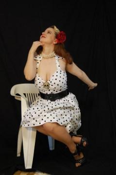 2010 Fife pinup white dress 0401