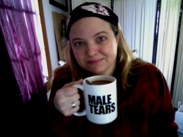 webcam male tears mug amber
