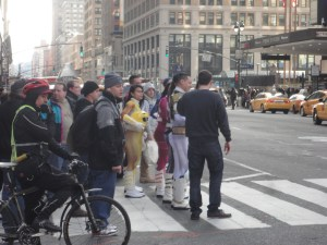 Power Rangers crossing Street