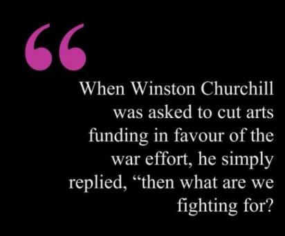 Winston Churchill quote on art