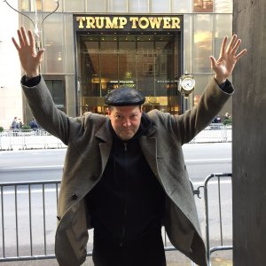 Shannon Wheeler at Trump Tower