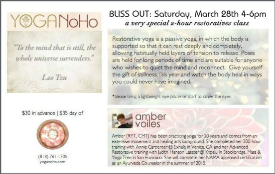 bliss out march final