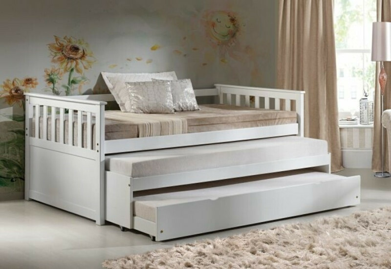 Acme 39080 83 Red Barrel Studio Juliann Cominia White Finish Wood Twin Day Bed With Double