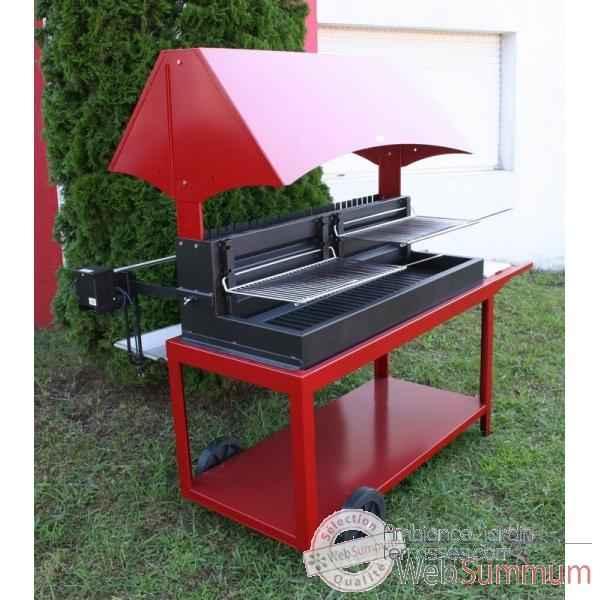 Barbecue Grilloir Mechoui Rouge Le Marquier Dans