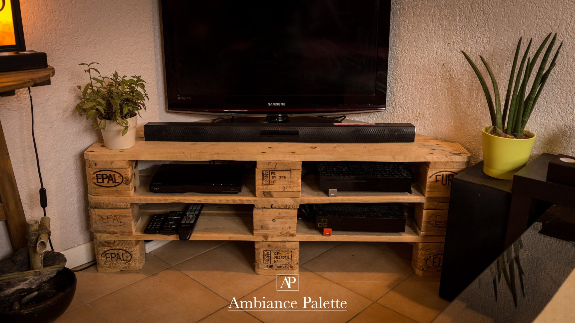 meuble tv europe d angle ambiance palette