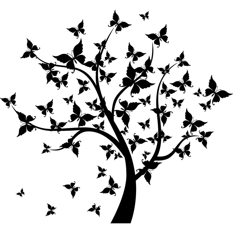 Sticker Arbre à papillons