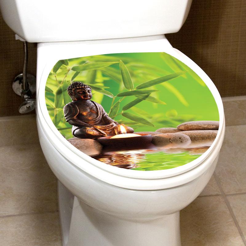 Sticker abattant wc ambiance zen avec bouddha  Stickers STICKERS TOILETTES Abattants wc