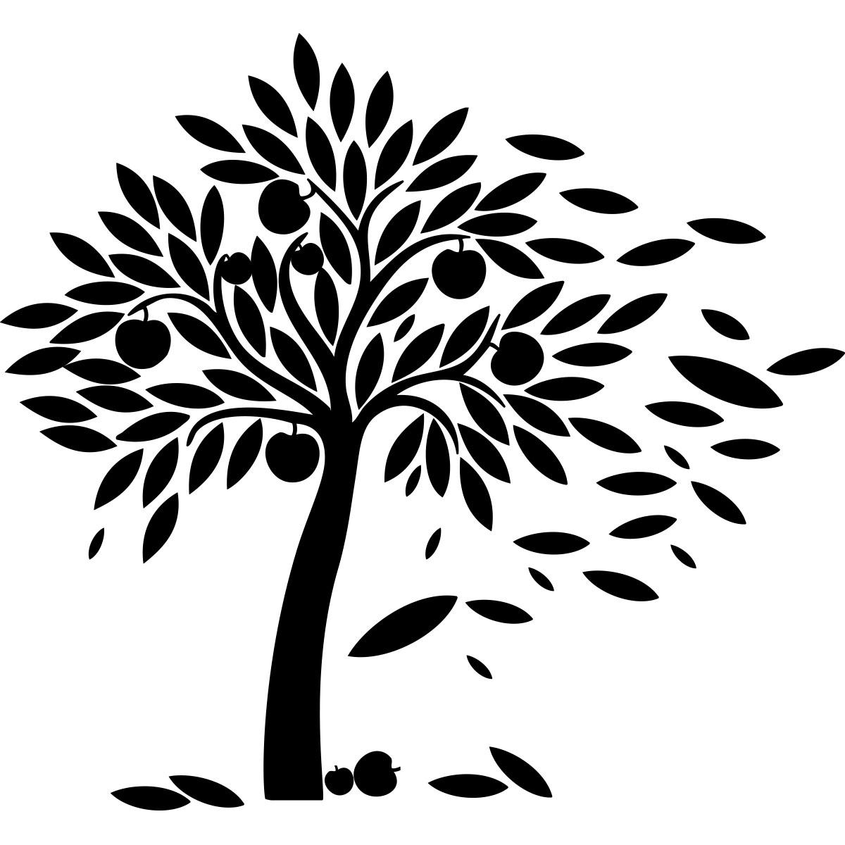 Sticker arbre à pommes