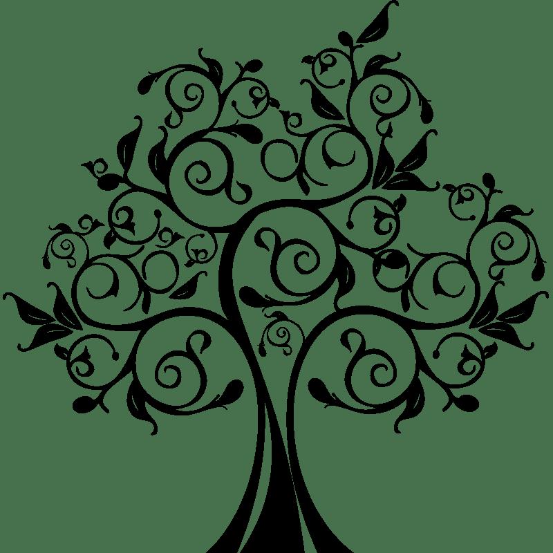 Sticker arbre et feuilles design