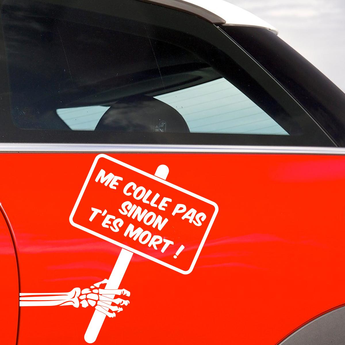 Sticker auto citation ne me colle pas  Stickers Citations Franais  Ambiancesticker