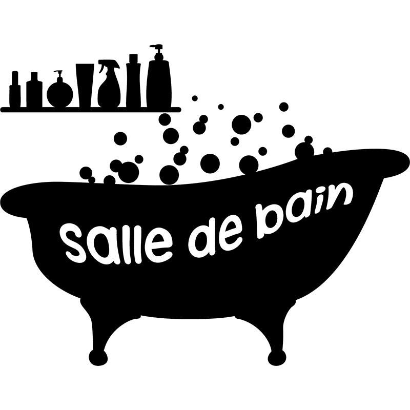 Sticker Baignoire Salle de bain  Stickers SALLE DE BAIN ET WC Salle de bain  ambiancesticker
