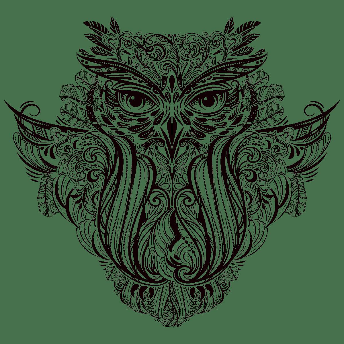 Sticker bohème hibou