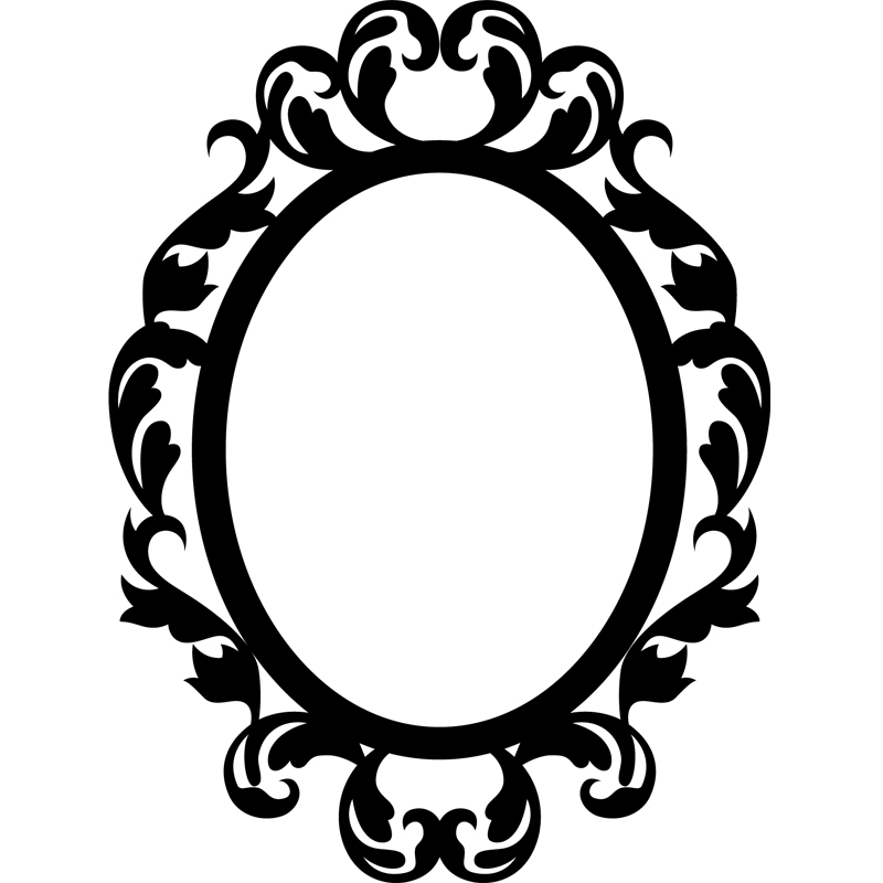 Stickers Muraux Baroque Sticker Cercle Style Mirroir
