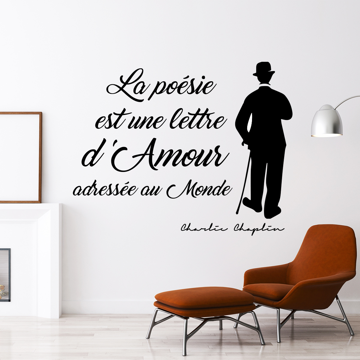 Sticker citation Charlie Chaplin  La posie  lamour