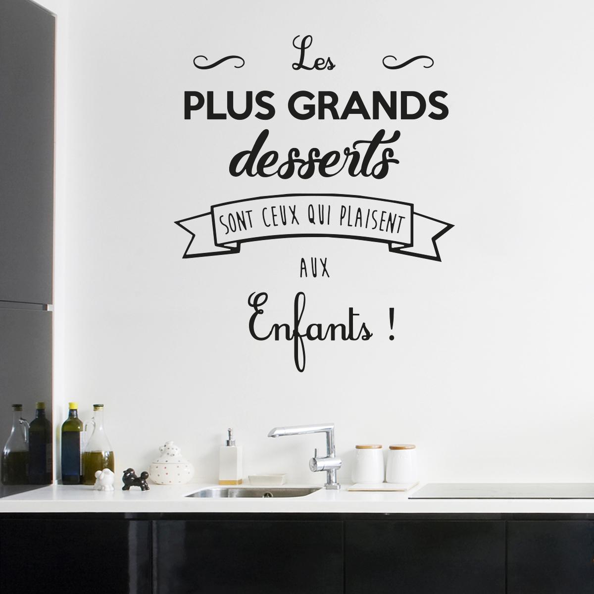 Sticker citation cuisine les plus grands desserts  Stickers Citations Franais  Ambiancesticker