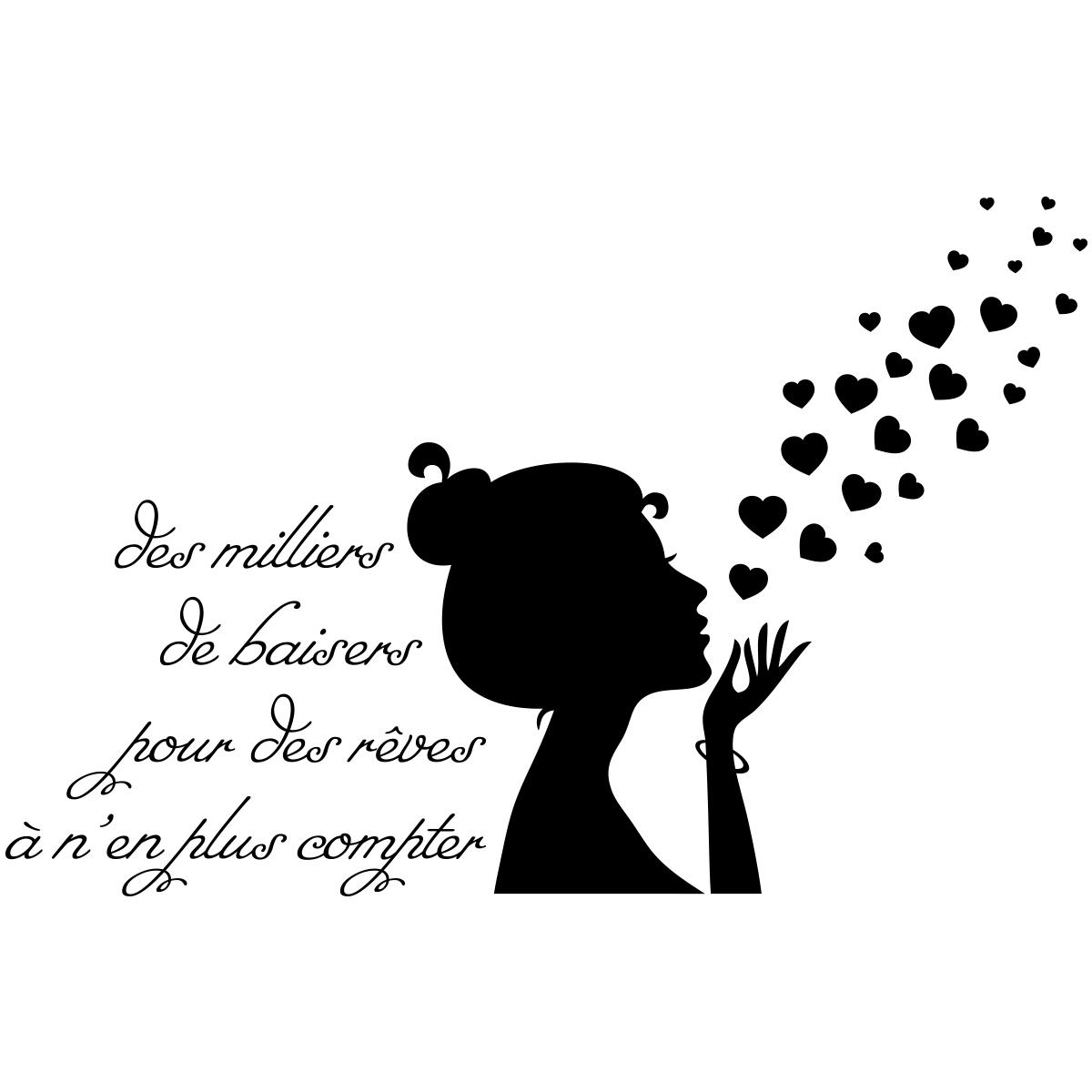 Sticker citation Des milliers de baiser pour des rves  Stickers Musique  Cinema Silhouettes