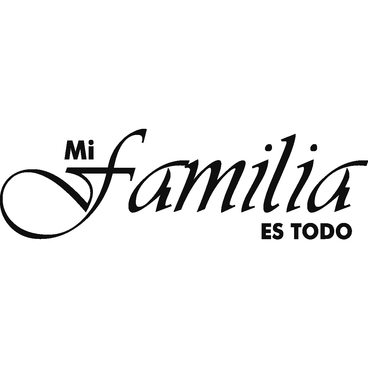 Sticker Citation Espagnol - Mi familia es todo