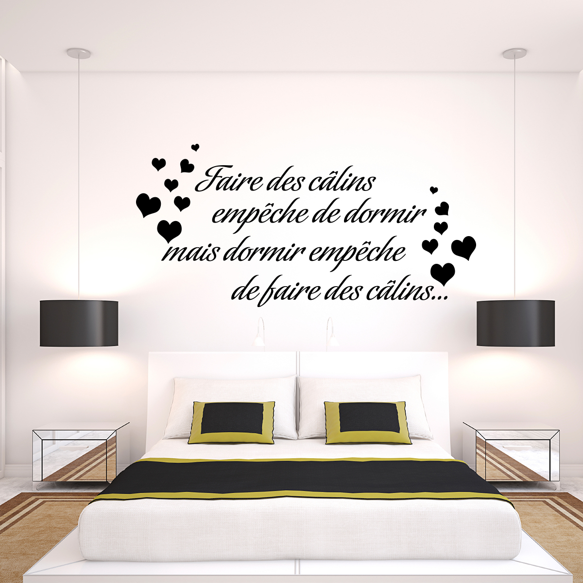 Sticker citation Faire des clins empche de dormir  Stickers Citations Franais  Ambiancesticker