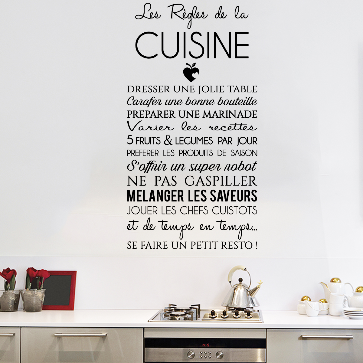 Sticker citation Les rgles de la cuisine  stickers STICKERS CITATIONS Franais  ambiancesticker
