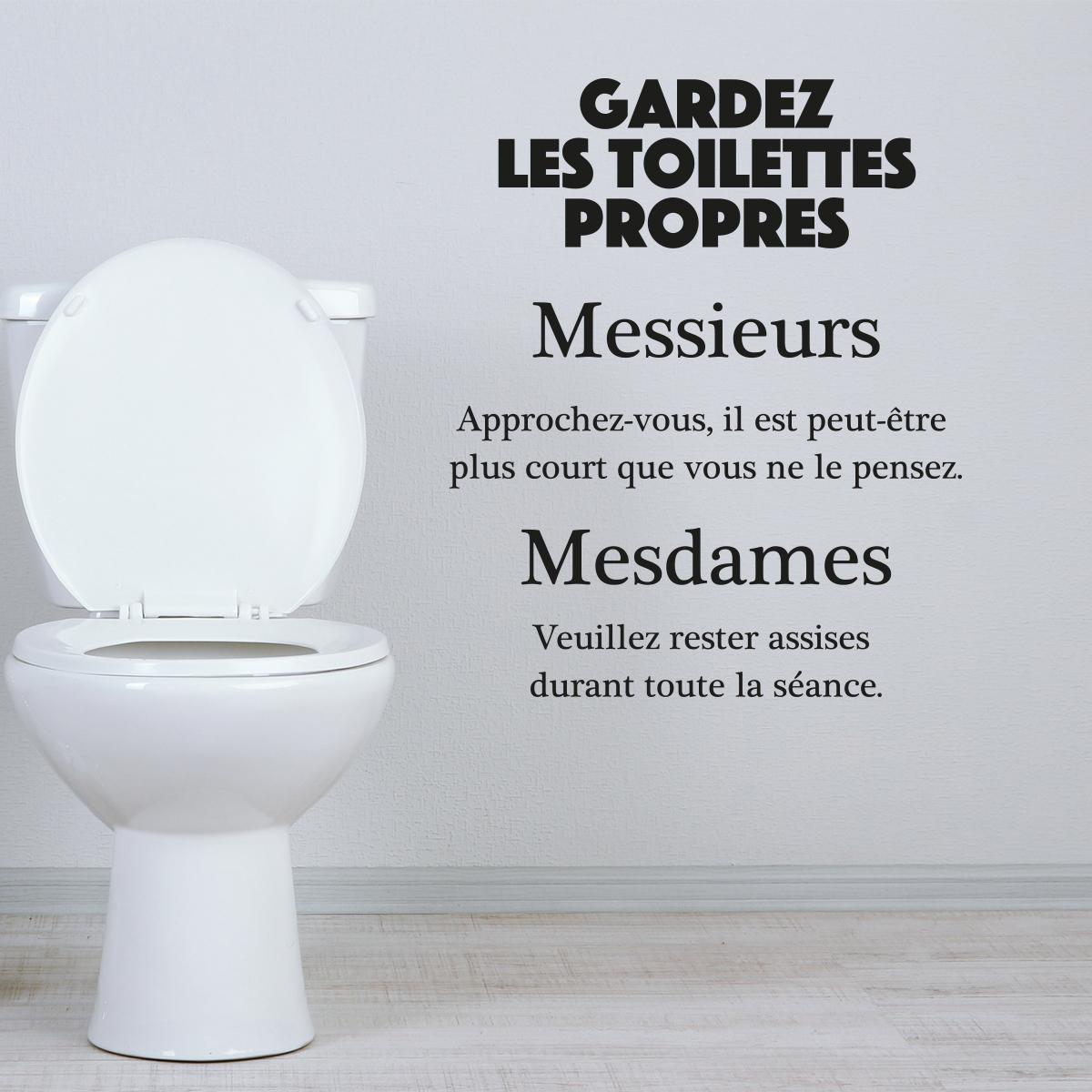 Sticker citation wc gardez les toilettes propres  Stickers Citations Franais  Ambiancesticker