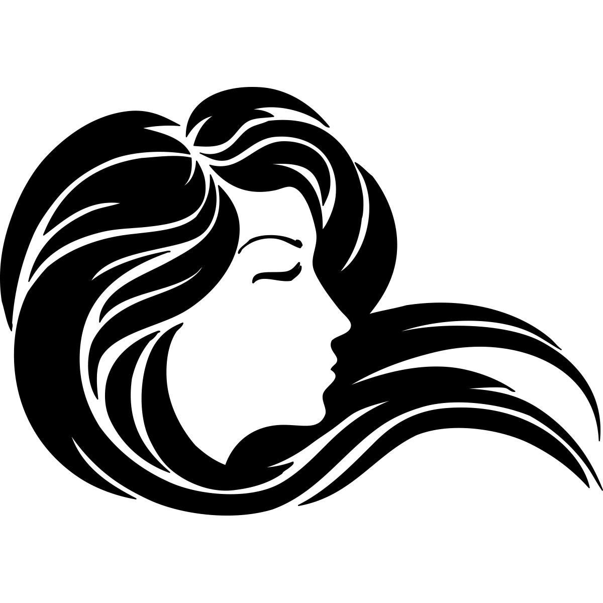 Sticker Coiffure Fille La Belle Chevelure Stickers