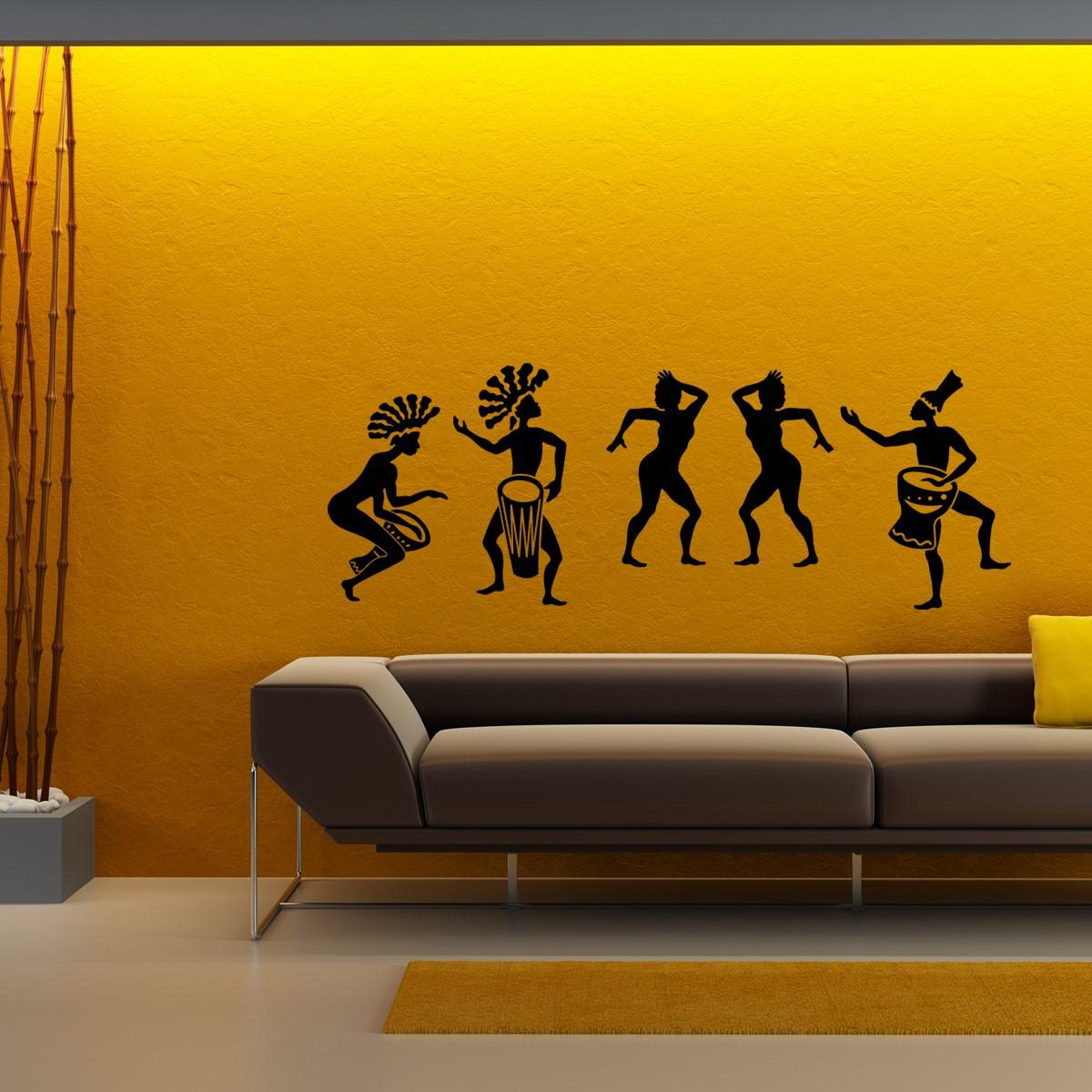 Stickers muraux musique  Sticker Danse africaine  Ambiancestickercom