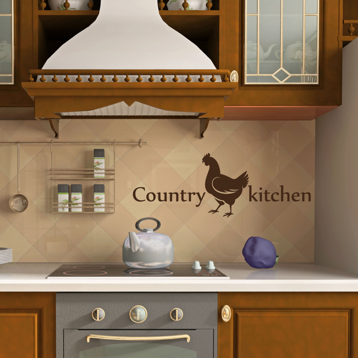Stickers muraux pour la cuisine  Sticker Cuisine de campagne  Ambiancestickercom