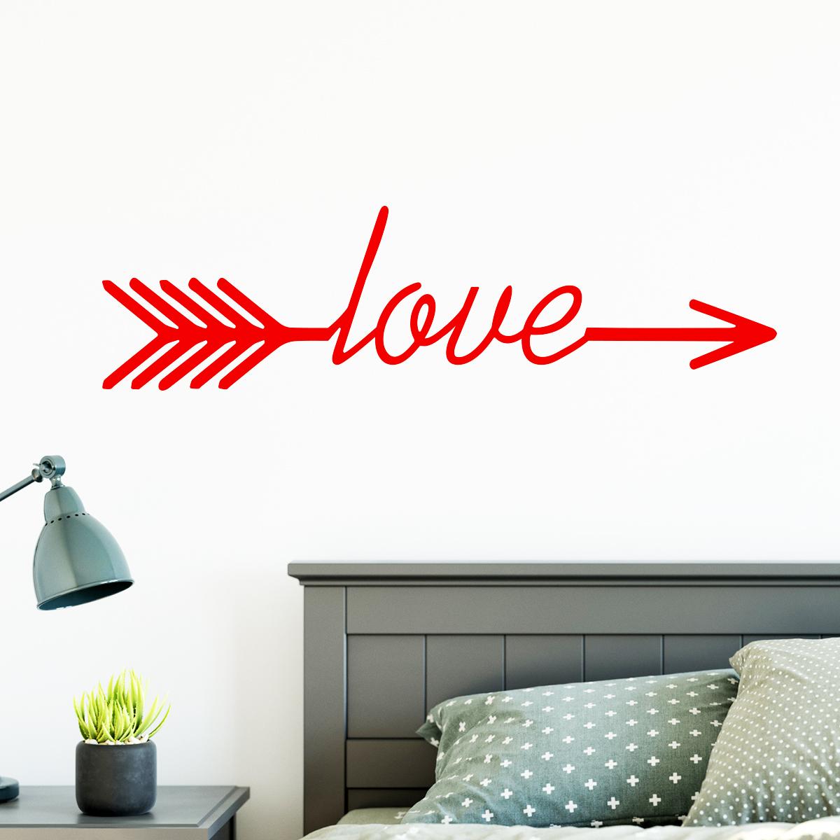 Sticker Design flche love  Stickers STICKERS FTES Stickers SaintValentin  ambiancesticker